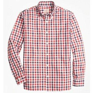 Brooks Brothers Checkered Broadcloth Oxford Shirt